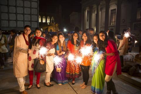 Diwali Pooja 2015 sparklers