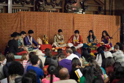 Yale Diwali Pooja 2014 initial prayers