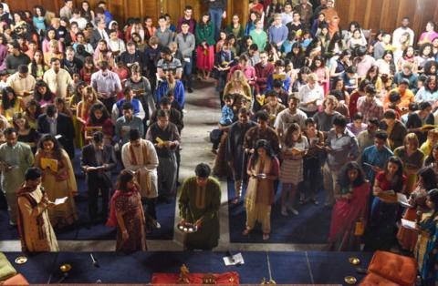 Yale Diwali Pooja 2015 aarati