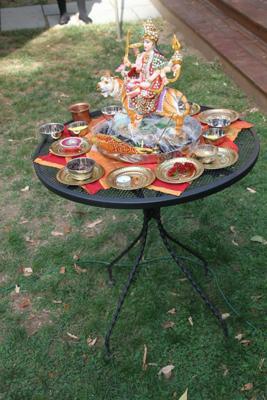 Navratri Homa 2014 altar to Durga