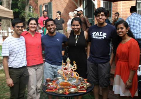 Navratri Homa 2014 HSC Board and Dr. Asha Shipman