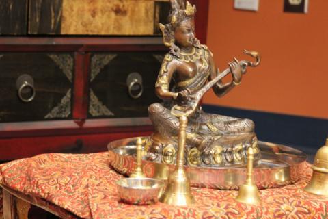 Statue of Maha Saraswati