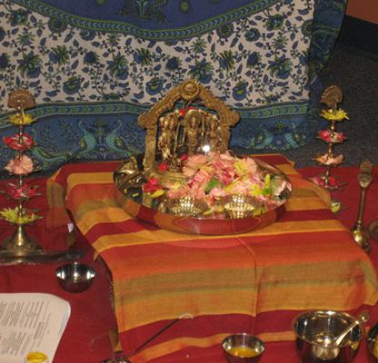 Rama Navami murti with offerings