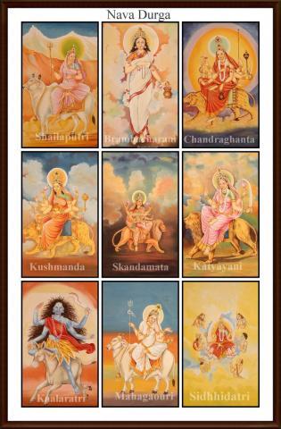 Nine forms of the Goddess