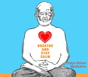 event poster Robert meditating