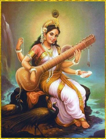 image of the Goddess Saraswati