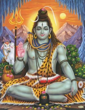poster of Shiva in the lotus pose