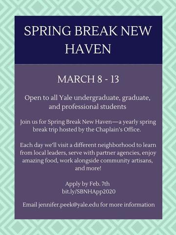 Spring Break New Haven Poster