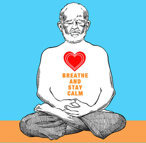 Breathe and Stay Calm drawing