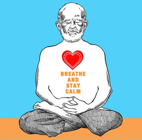 Robert Moses meditating