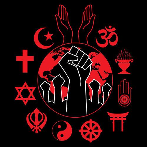 Interfaith support for #BlackLivesMatter logo by Sangeetha Kowsik